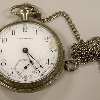 SETH THOMAS Silver Pocket Watch ( Help) - Pocket Watches