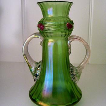 Loetz Threaded and Jewelled - Art Glass