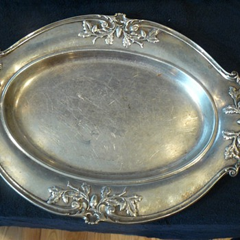 Antique Gorham Sterling Silver Platter - Silver