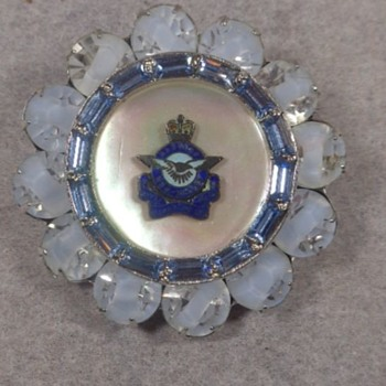 RCAF Rhinestone Sweetheart Brooch - Military and Wartime