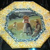 Pretty painting under glass country scene
