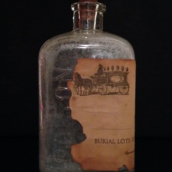 Embalming Glass Bottle With Original Paper Label.  - Bottles