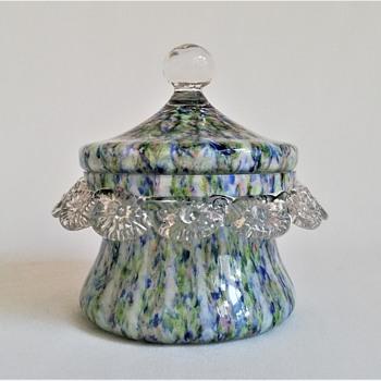Small Welz Lidded Bowl - Art Glass
