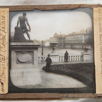 "Old Magic Lantern Glass Slide ""Bruxelles Royal Palace"" - Photographs"