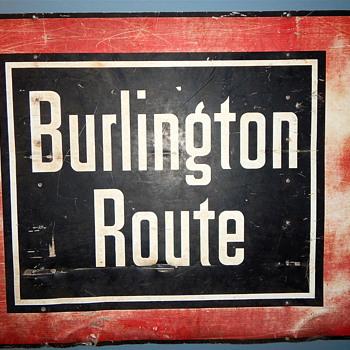 Burlington Route Sign