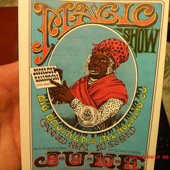 A Magic Show themed handbill by Artist Rick Griffin
