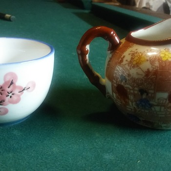 Japanese pot and cup - China and Dinnerware