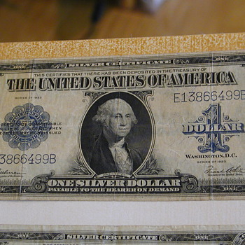 Silver Certificate One Silver Dollar - US Paper Money