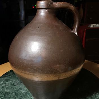 Dark Brown Ovoid Jug - Stoneware - China and Dinnerware