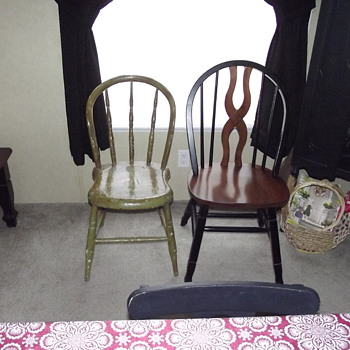 know nothing about chair except looks like child's chair found in attic 200 year old house   - Furniture