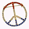 Vintage 1960s - early 1970s Hippie PEACE SIGN Jewelry