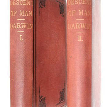 "Darwin's ""Descent of Man"" First American Edition, First Printing 1871 (Quanitity Issued?) - Books"