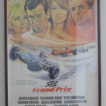 1967 'Grand Prix' Film Poster - Spanish Edition