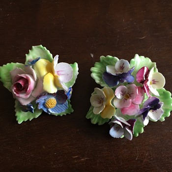 English Floral Brooches - Costume Jewelry