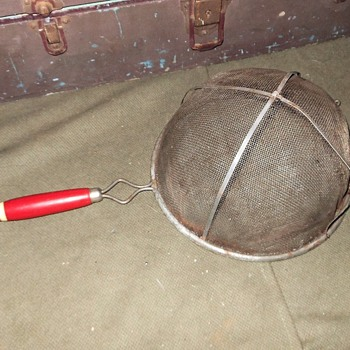 Large Vintage Strainer - Kitchen