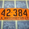1928 Washington State Auto License Plate