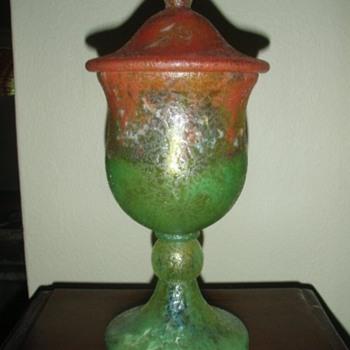 Czech :  Glue Chip / Chipped Ice Vases - Art Glass