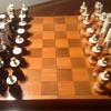 VINTAGE CHESS SET IVORY / BONE WITH WOOD BASES