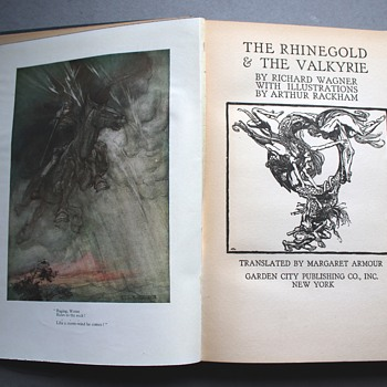 1939 Edition of Wagner's The Rhinegold and the Valkyrie, Illustrated by Arthur Rackham - Books