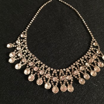 Lovely Rhinestone Necklace - Costume Jewelry