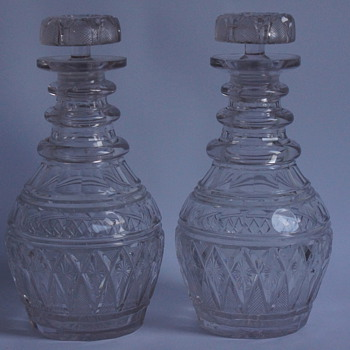 A Pair of 1930s Decanters - Art Glass