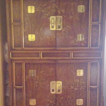 Tall oriental cabinet - Furniture