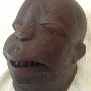 Vintage African Mask - Folk Art