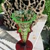 Uranium & cranberry vase