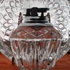 Crystal table lighter and ashtray set