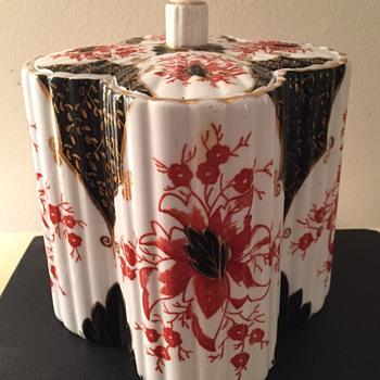 19th Cent. English Imari Biscuit Jar - China and Dinnerware