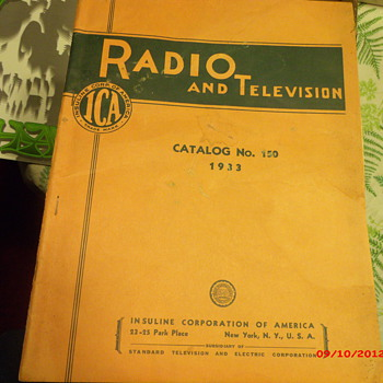 Original Radio and Television Catalog No. 150 from 1933