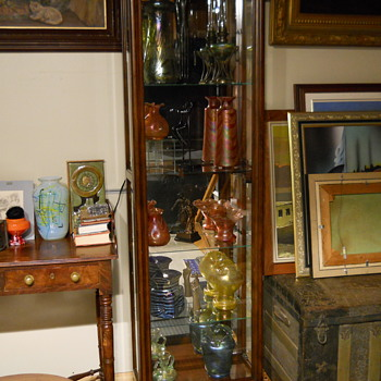 The perfect Showcase for Fritz Heckert Glass Collection. - Art Glass