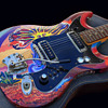 "1960's Signed Psychedelic Art Guitar for the ""Incredible Iguanas"""