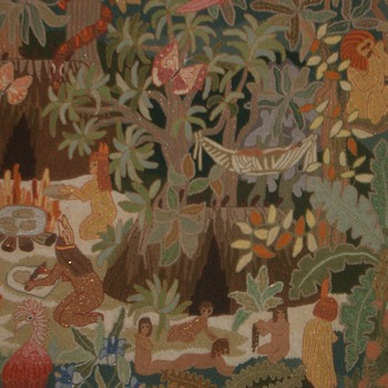 "TAPESTRY ""Life in the Amazon"" - Folk Art"