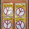 #55 ~ 1960s IMPKO Store Display Peace Symbol Stickers