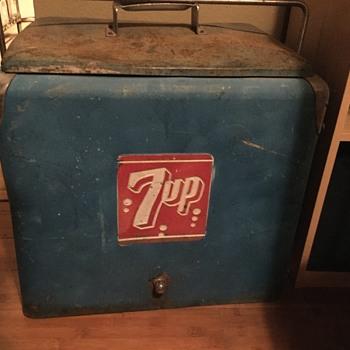 Blue 7up cooler