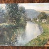Oil on Board - American Impressionism?  Unknown Signature
