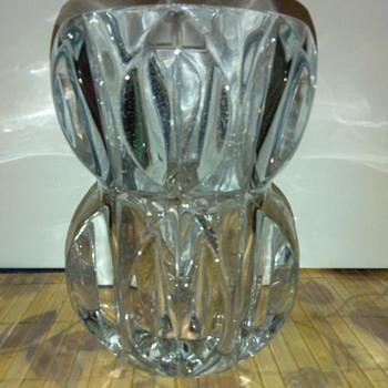 Vintage Lt. Blue Crystal Vase - Art Glass