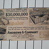 1916/1917 Cardboard Trolley Car Sign