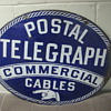 Postal Telegraph Commericial Cables Office Sign
