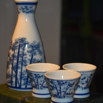 Tokkuri and Sake Cups - Asian