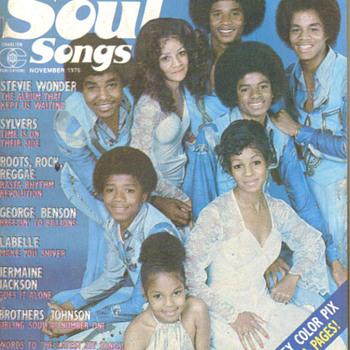 Rare rock and soul magazine with Jackson Family on cover  - Music Memorabilia