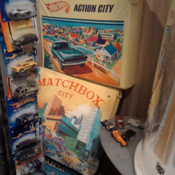 Hot Wheels city and the Matchbox version...