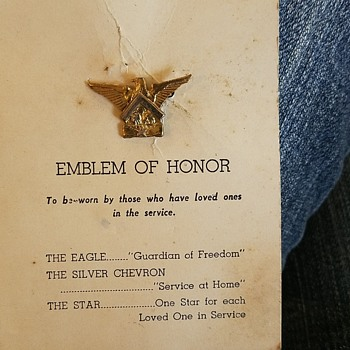 What and when is this honor pin from - Medals Pins and Badges