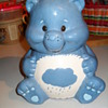 care bear cooking jar, and an unknown cookie jar,