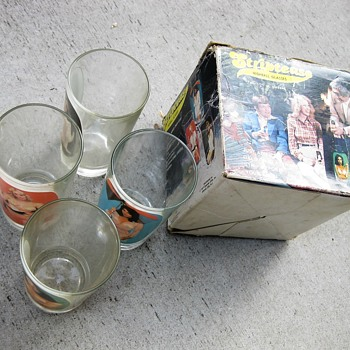 Striptease highball glasses from 1977 - Glassware