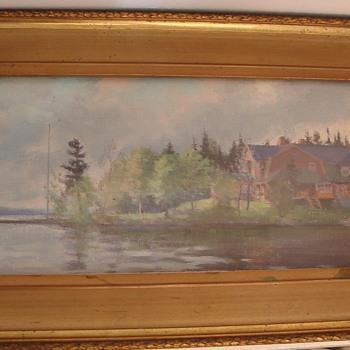"""1898 ERNEST FOSBERY oil painting on board 14.25"""" by 6.25"""" - Fine Art"""