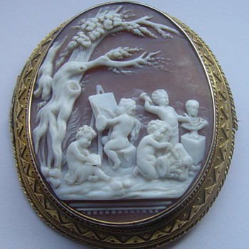 Cherubs busy at art projects - Victorian Era