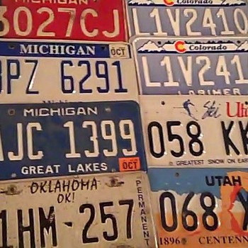 Various License Plates - Signs