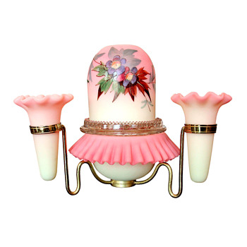 Webb Burmese fairy lamps - Art Glass
